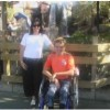 Goodacres with wheelchair at Niagra Falls
